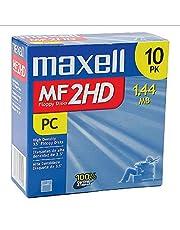 Maxell MF2HD 3.5 1.44MB Hi-Density vooraf geformatteerde IBM-schijven Diskette (10-pack)