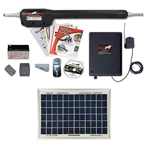 Mighty Mule MM560 Solar Package - Heavy Duty Single Gate Opener w/ 10 Watt Solar Panel -