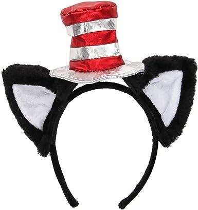 elope Dr Seuss The Cat in The Hat Pattern Ears Headband Black