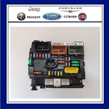 new genuine oe peugeot engine bay fuse box (bsm) fits peugeot 207 6500hw:  amazon co uk: car & motorbike