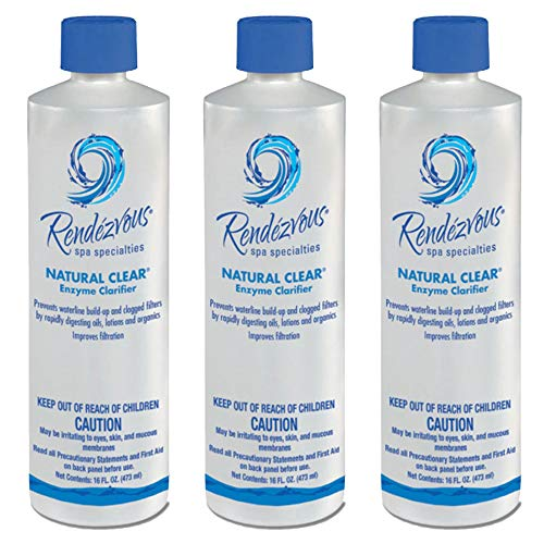 - Rendezvous Spa Specialties Hot Tub Natural Clear Enzyme Water Clarifier (3 Pack)