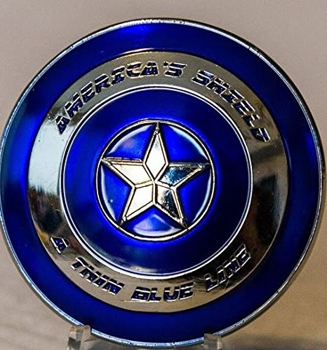 Blue Coin - Thin Blue Line Shield Police Challenge Coin