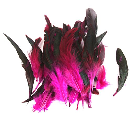 Wholesale 50 beautiful feathers 12-18cm / 4-7inch Rose Red