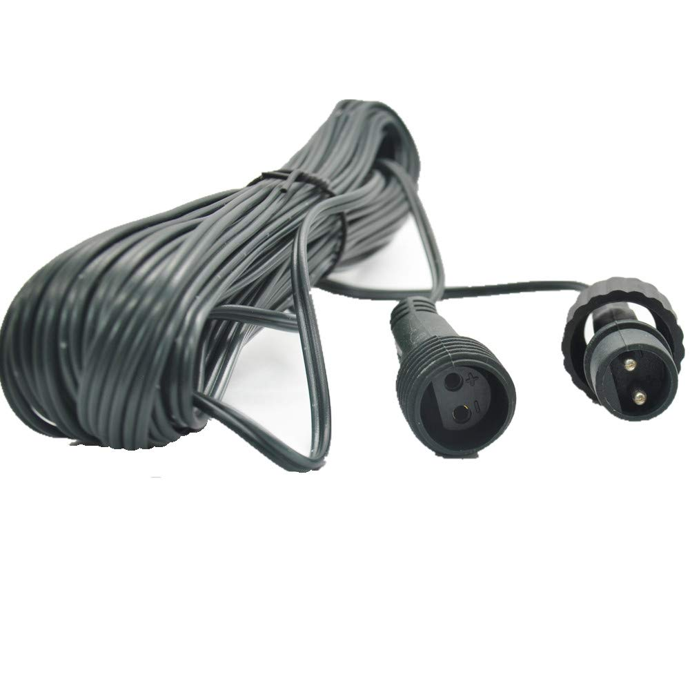 Two Pins Works with Most String and Icicle Lights 10M 33Feet Extension Cable for Fairy Lights