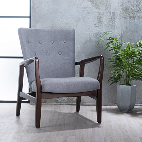 Christopher Knight Home 300383 Suffolk French Style Fabric Arm Chair (Grey)