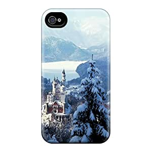 Fashion Tpu Case For Iphone 4/4s- Castle In Winter Defender Case Cover