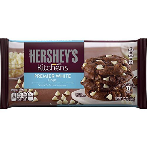 HERSHEY'S Kitchens Baking Pieces, Premier White Chips, Gluten Free, 12 Ounce Bag (Pack of 12) (Chip Non)