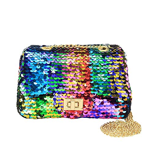 (CMK Trendy Kids Sequin Toddler Kids Purse Little Girl Purses Christmas Gifts (sequin rainbow) )