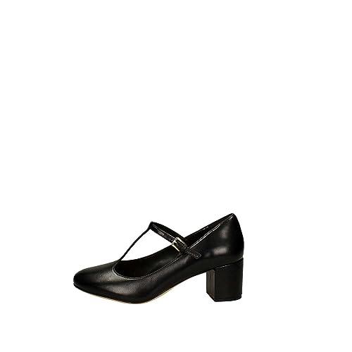 Clarks Orabella Fern  Black Leather Womens Heels  B074DWYP62