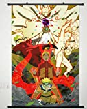 Anime Naruto Home Decor Wall Scroll Poster Fabric Painting Janpan Art Cosplay Uzumaki Naruto / Uchiha Sasuke / Hatake Kakashi 23.6 x 35.4 Inches-587[A]