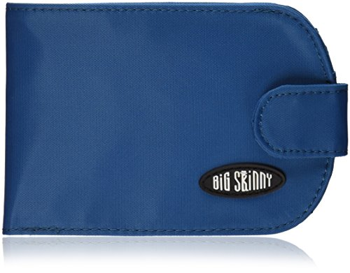 Big Skinny Women's Taxicat Bi-Fold Slim Wallet, Holds Up to 25 Cards, Ocean Blue (Wallet Big Skinny)