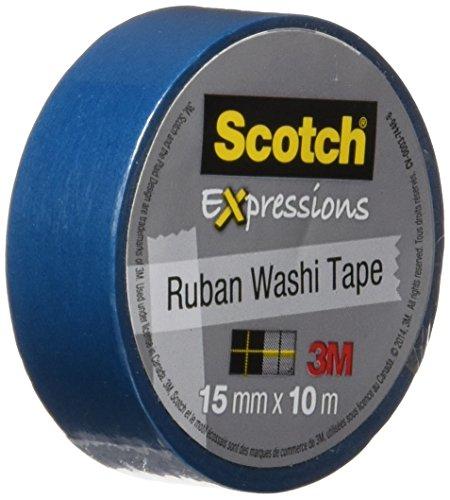 Scotch C314BLU Expressions Washi Tape.59-Inch x 393-Inch, Blue (MMMC314BLU)