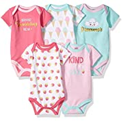 Luvable Friends Baby Infant Basic Bodysuit, 5 Pack, Brand Sparkling New, 24M(18-24 Months)