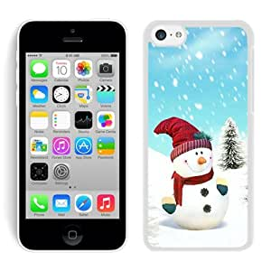 Customized Iphone 5C TPU Case Christmas Snowman iPhone 5C Case 5 White