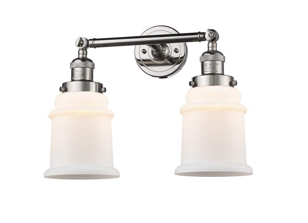 Innovations 208-PN-G181 2 Light Bathroom Fixture Polished Nickel