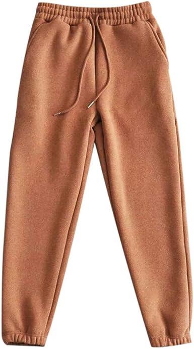 Sylar Pantalones Mujer Chandal 2018 Ofertas Tendencia Simple Color Solido Mas Terciopelo Suelto Bolsillo Pantalones Deportivos Pantalones De Haren Amazon Es Ropa Y Accesorios