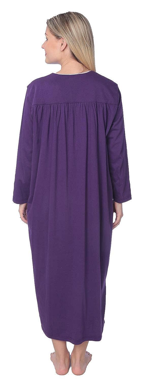 Women Jersey Long Nightgown Long Sleeve Elegant Loose Dress