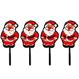 WeRChristmas Father Christmas Garden Pathway Christmas Lights, 48-LED Double Sided - Set of 4