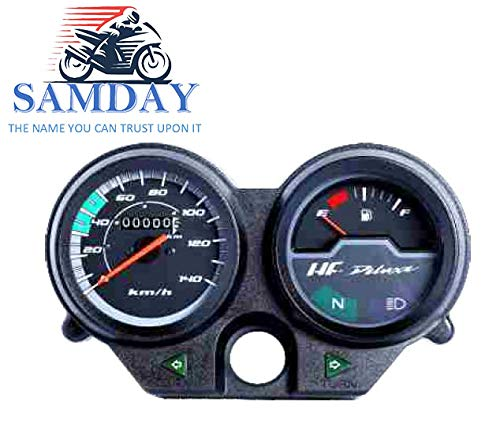 Samday Speedometer Compatible For Hero Hf Deluxe Old Model Model 2013 2015 40000 Amazon In Car Motorbike
