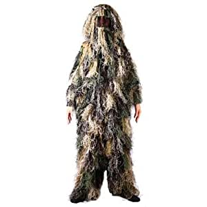 Ghillie Suit, Woodland Camouflage, Size: XL/XXL