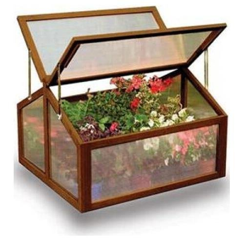 Gardman 7650 Large Wooden Cold Frame Greenhouse with FSC Timber - 11†L x 2' 7†W x 1' 11†H