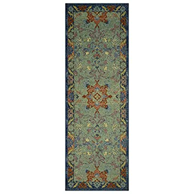 Runner Rug, Maples Rugs [Made in USA][Tilda Artwork Collection] 2' x 6' Non Slip Hallway Entry Area Rug for Living Room, Bedroom, and Kitchen - 2'X6' Runner 100% nylon pile Durable print Construction - runner-rugs, entryway-furniture-decor, entryway-laundry-room - 51kDb%2B8wytL. SS400  -