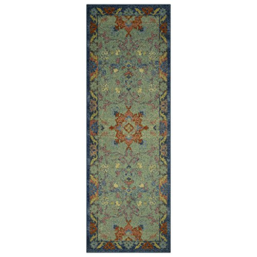 51kDb%2B8wytL - Runner Rug, Maples Rugs [Made in USA][Tilda Artwork Collection] 2' x 6' Non Slip Hallway Entry Area Rug for Living Room, Bedroom, and Kitchen