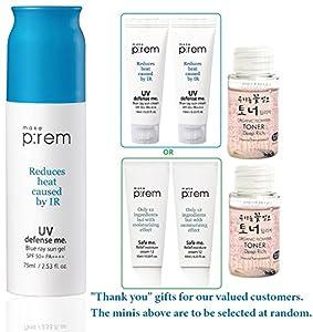MAKEP:REM UV Defense me. Blue ray sun gel, cream, fluid SPF 50+ PA++++