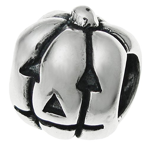 Dreambell 925 Sterling Silver Halloween Pumpkin Jack O Lantern Bead For European Charm -