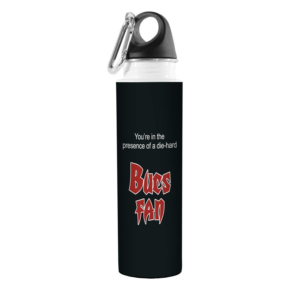 Tree-Free Greetings VB48137 Football Fan Artful Traveler Stainless Steel Water Bottle 18-Ounce Bucs