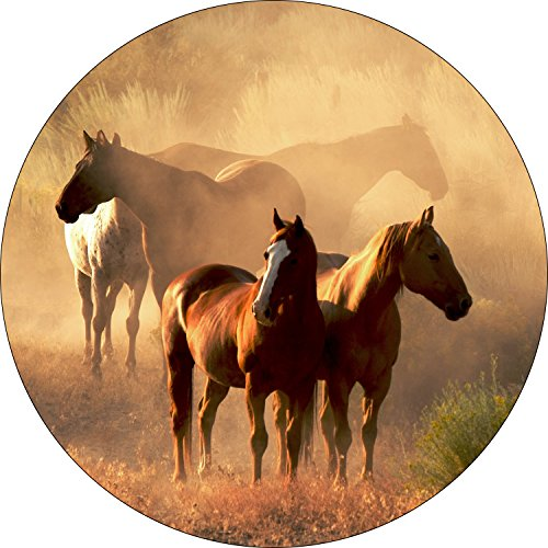 Horse #9 Spare Tire Cover for 225/75R15 Jeep RV and More(Select from Popular Sizes in Drop Down menu or Contact us - Fit Horse Trailer Cover