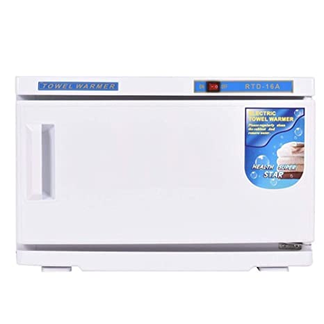 2 en 1 Esterilizador de Toallas Toalla Calentador Calor Desinfectante 16L/32L UV Ligero Alto