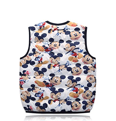 Vest Warm Outfits mickey white Lightweight Kids Jacket Wadded Children Cartoon Lemonkids;® pSHq6nOwYx