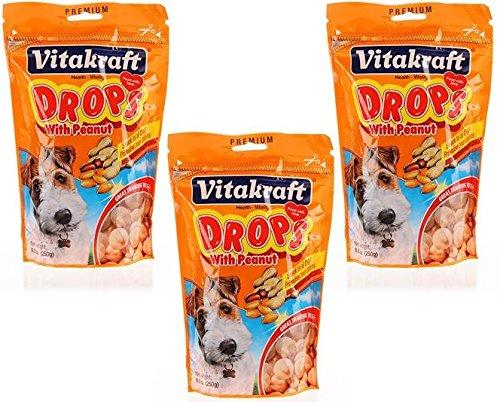 Peanut Drops (VitaKraft Drops with Peanut Dog Treat Snacks - 3 PACK)