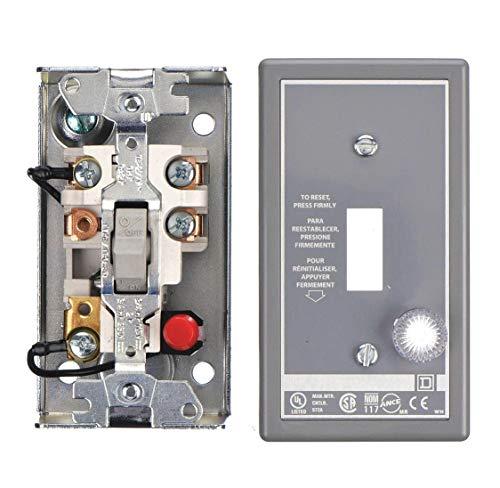 Square D Toggle Manual Motor Starter, Enclosure NEMA Rating 1, 16 Amps AC