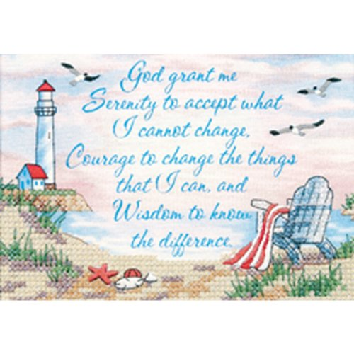 Dimensions Serenity Prayer Stamped Cross Stitch Kit, 7