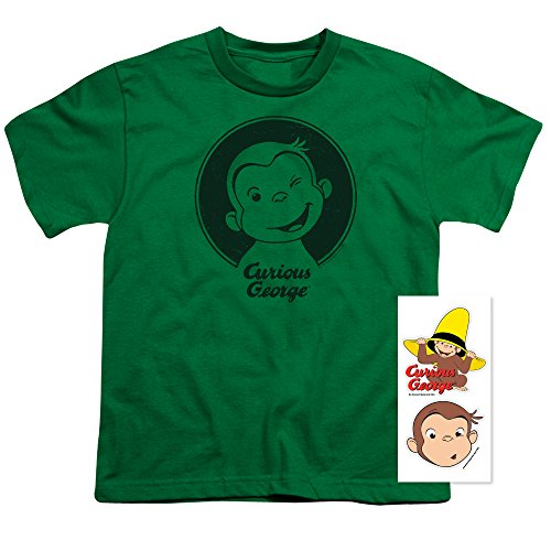 Popfunk Curious George Wink Toddler T Shirt & Exclusive Stickers (4T)