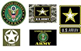 5 Pack US Army United States Patriotic Military Auto Decal Bumper Sticker Vinyl Decal For Car Truck Van RV SUV Boat Window Support USA Military (Complete Set)