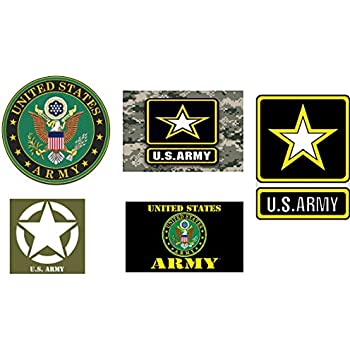 5 pack us army united states patriotic military auto decal bumper sticker vinyl decal for car truck van rv suv boat window support usa military complete