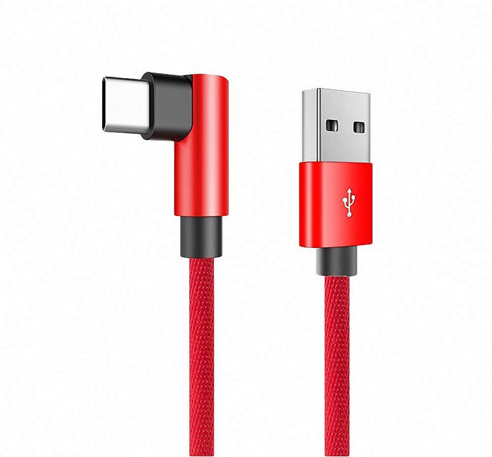 GH-Ghawk® 90 Grad Samsung Galaxy Fold Kabel, USB-Spiel Ladekabel, Geschwindigkeitssynchronisierung und Schnelllade-Typ-C und mehr Digitale Geräte 1,2 Meter/1.8 Meter