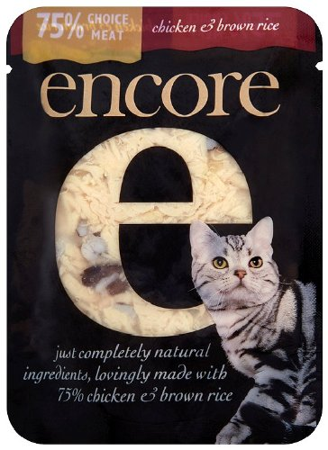 Encore Cat Food Chicken and Brown Rice 70 g (Pack of 8) 71320