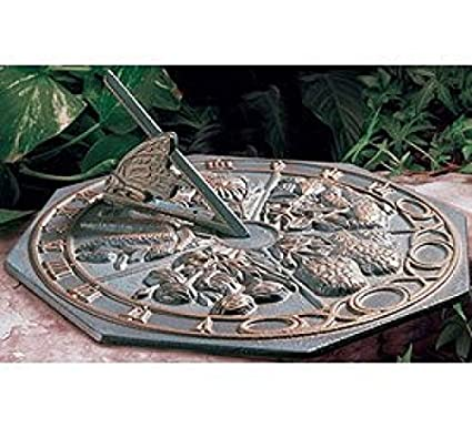 Whitehall Products Butterfly Sundial French Bronze