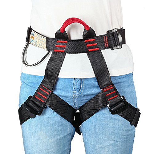 HandAcc Climbing Harness, Durable Safe Seat Belts with Reinforced Nylon Bearing Loop for Mountaineering Outward Band Fire Rescue and Working on the Higher Level