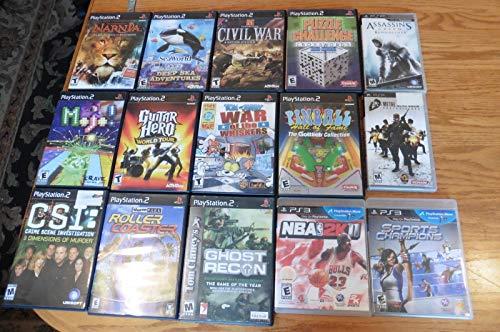 Lot of 15 Playstation 2 PS3 & PSP games Assassins Creed Sports Champion Narnia +
