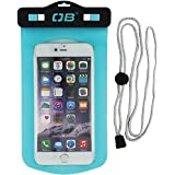 Overboard Waterproof Large Phone Case for iPhone X / 8 Plus / 7 Plus / 6s Plus /6 Plus, Samsung Galaxy S6 / S6 edge+, Samsung Note Series and Other Smartphones up to 6.7 Inches - Aqua