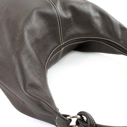 besace cabas Naht cuir cuir femme 337 Weiße en sac Sac à sac de italien en main Dunkelbraun sac 0OxBxzqwTn