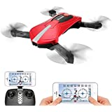 Quadcopter with Camera Live Video, EACHINE E52 FPV Selfie Pocket Drone WiFi APP Control Altitude Hold RC Helicopter