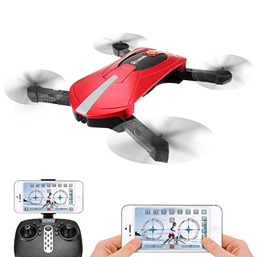 Quadcopter with Camera Live Video, EACHINE E52 FPV Selfie Pocket Drone WiFi...