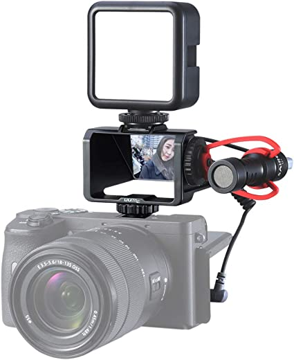 Portable Dimmable On-Camera Video Fill Light for DSLR//Action Camera Serounder Mini 10m Waterproof LED Video Light
