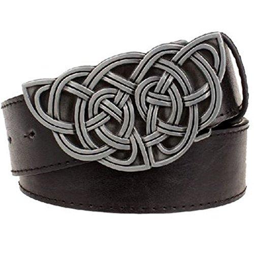TOGIC Fashion women's leather belt Weave stripe pattern casual belt Celtic Knot style Jeans strap metal big buckle belt 5 115cm (Pattern Weave Celtic)